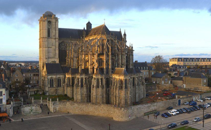 La Nuit des Chimères, Le Mans, projection sur la cathédrale
