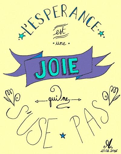 La joie de l'espérance