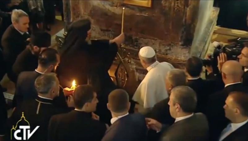 Le pape François en Georgie