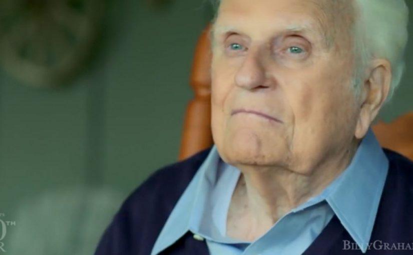 Dans son édifiant dernier message vidéo, BillyGraham exhortait à «vivre à nouveau pourChrist »