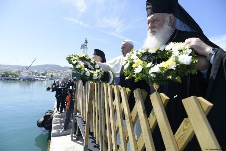 Prière du pape François à Lesbos