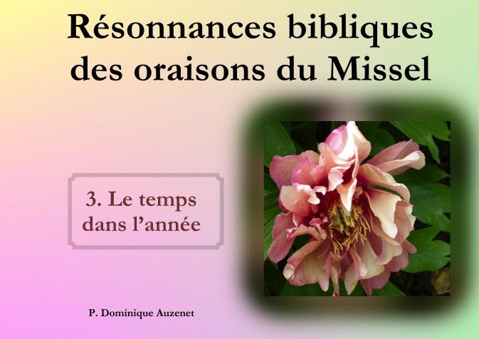 Résonnances bibliques des oraisons du missel
