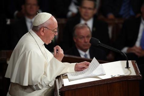 Le pape au Congrès américain