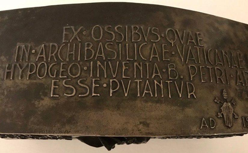 Le don des reliques de l'Apôtre Pierre