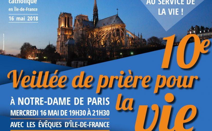 La veillée de prière pour la vie à ND de Paris