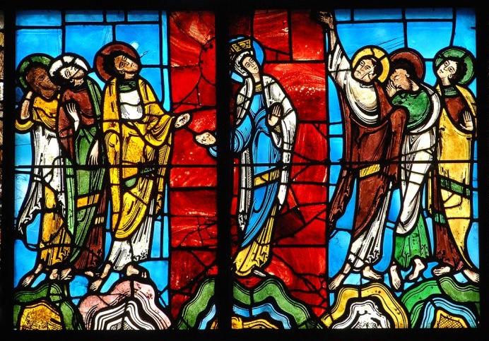Le vitrail de l'Ascension